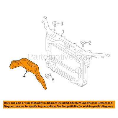 Aftermarket Replacement - RSP-1158 2012-2014 Ford Edge & 2012-2015 Lincoln MKX Front Radiator Support Center Support Brace Bracket Primed Made of Steel - Image 3