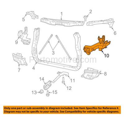 Aftermarket Replacement - RSP-1101L 2014-2018 Jeep Grand Cherokee (3.0 & 3.6 & 5.7 & 6.4 Liter) Front Radiator Support Headlamp Mounting Bracket Plastic Left Driver Side - Image 3