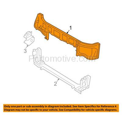 Aftermarket Replacement - RSP-1113 2005-2007 Dodge Magnum (Wagon 4-Door) Front Radiator Support Core Assembly Upper Crossmember Tie Bar Panel Primed Made of Steel - Image 3