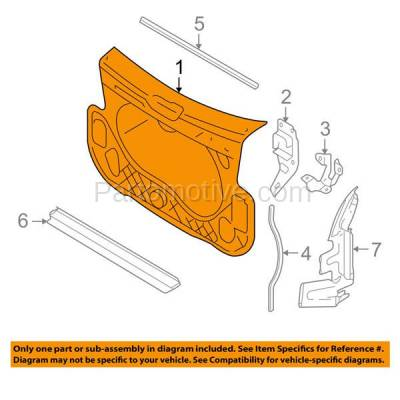 Aftermarket Replacement - RSP-1023 2006-2011 Audi A6 & 2005-2011 A6 Quattro (Avant, Base) Sedan & Wagon Front Center Radiator Support Core Panel Assembly Plastic & Steel - Image 3