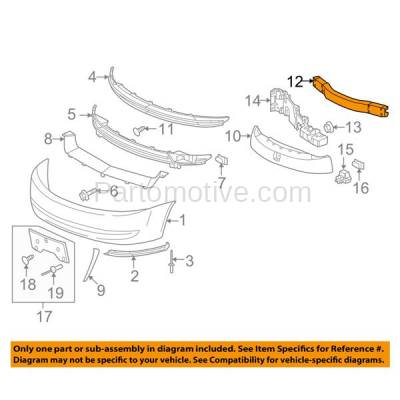 Aftermarket Replacement - BRF-1243F 2003-2007 Saturn Ion (1, 2, 3, Red Line) (Coupe & Sedan) Front Bumper Impact Face Bar Crossmember Reinforcement Aluminum - Image 3