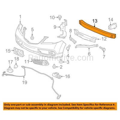 Aftermarket Replacement - BRF-1015F 2007-2017 Acura RDX (Base & SH-AWD) 2.3 & 3.5 Liter Engine Front Bumper Impact Bar Crossmember Reinforcement Aluminum - Image 3