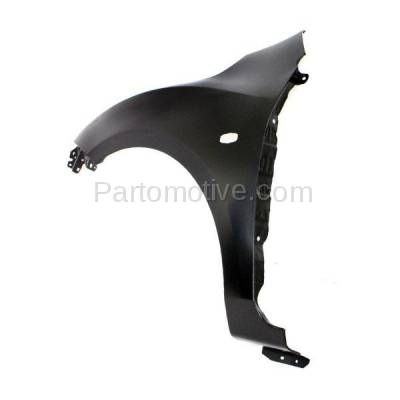 Aftermarket Replacement - FDR-1476L 2010-2013 Mazda 3 (2.0L & 2.5L) Hatchback & Sedan (with Stone Guard Provision) Front Fender Quarter Panel Primed Steel Left Driver Side - Image 3