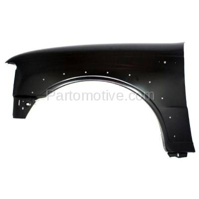 Aftermarket Replacement - FDR-1490L 2001-2010 Mazda B-Series (Base, SE) 4WD Front Fender (with Wheel Opening Molding Holes) Primed Steel Left Driver Side - Image 1