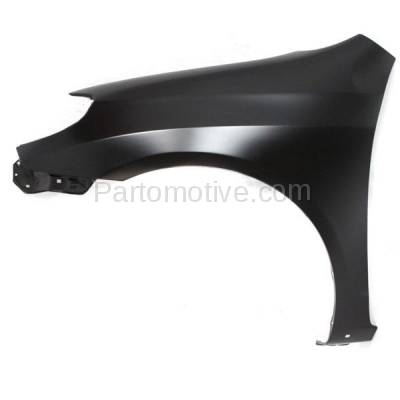 Aftermarket Replacement - FDR-1463L 2003-2008 Toyota Matrix (XR & XRS) 1.8L (Wagon 4-Door) Front Fender Quarter Panel (with Rocker Molding Holes) Primed Steel Left Driver Side - Image 1
