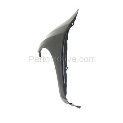 Aftermarket Replacement - FDR-1463L 2003-2008 Toyota Matrix (XR & XRS) 1.8L (Wagon 4-Door) Front Fender Quarter Panel (with Rocker Molding Holes) Primed Steel Left Driver Side - Image 3