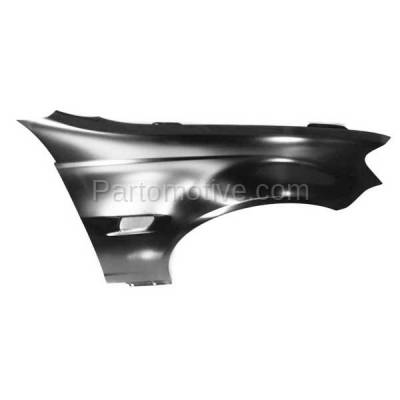 Aftermarket Replacement - FDR-1352R 2008-2009 Pontiac G8 (V6/V8 Engine) (USA Built Models) Front Fender Quarter Panel (with Turn Signal Light Hole) Right Passenger Side - Image 3