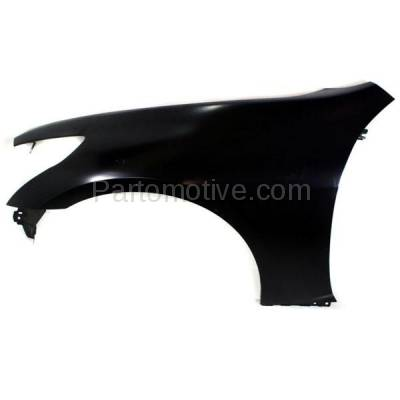 Aftermarket Replacement - FDR-1348L 2007-2013 Infiniti G25/G35/G37 & 2015 Q40 (without Sport Package) Front Fender Quarter Panel Primed Steel Left Driver Side - Image 1