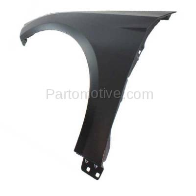 Aftermarket Replacement - FDR-1322L 2012-2018 Ford Focus (1.0L & 2.0L & 2.3L & Electric) Front Fender Quarter Panel (without Molding Holes) Primed Steel Left Driver Side - Image 3