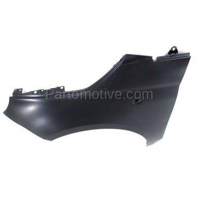 Aftermarket Replacement - FDR-1304L 2012-2019 Fiat 500 (1.4L Engine & Electric) (USA Type) Front Fender Quarter Panel (without Molding Holes) Primed Steel Left Driver Side - Image 2