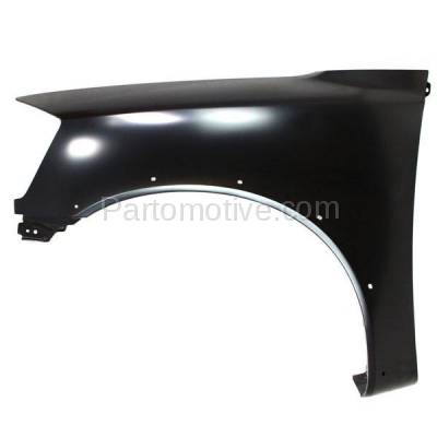 Aftermarket Replacement - FDR-1758L 2008-2015 Nissan Titan Pickup Truck USA Built (with Sport Appearance Package) Front Fender (with Flare Holes) Primed Steel Left Driver Side - Image 1