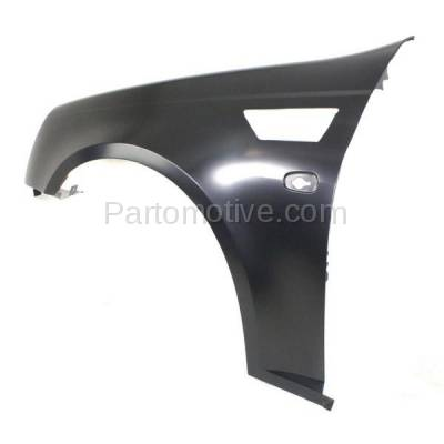 Aftermarket Replacement - FDR-1729L 2008-2011 Cadillac STS (Sedan 4-Door) V6/V8 Front Fender Quarter Panel (with Turn Signal Light Hole) Primed Steel Left Driver Side - Image 3