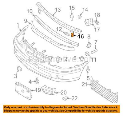 Aftermarket Replacement - BBK-1526R 2000-2003 Nissan Sentra Front Bumper Cover Face Bar Upper Retainer Mounting Brace Stay Bracket Made of Steel Right Passenger Side - Image 3