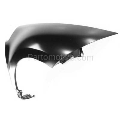 Aftermarket Replacement - FDR-1234R 2006-2012 Mitsubishi Eclipse (2.4 & 3.8 Liter Engine) Front Fender Quarter Panel (without Molding Holes) Primed Steel Right Passenger Side - Image 2