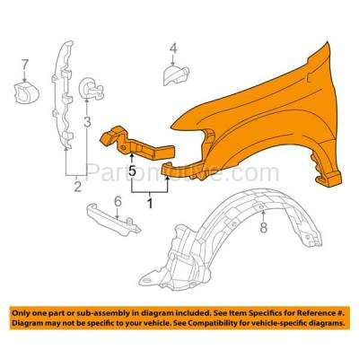 Aftermarket Replacement - FDR-1674L 2005-2007 Toyota Sequoia & 2005-2006 Tundra Pickup Truck (Limited & SR5) Front Fender (with Flare Holes) Primed Steel Left Driver Side - Image 3