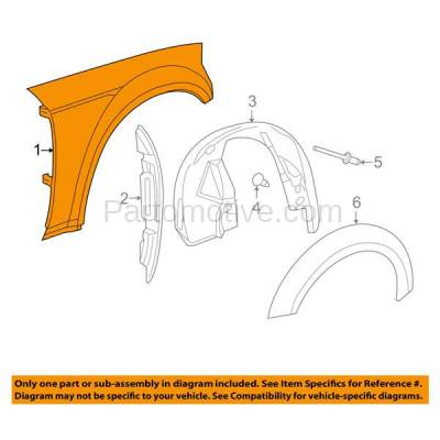 Aftermarket Replacement - FDR-1137L 2008-2019 Dodge Challenger (3.5 & 3.6 & 5.7 & 6.1 & 6.2 & 6.4 Liter V6/V8 Engine) Front Fender Quarter Panel Left Driver Side - Image 3