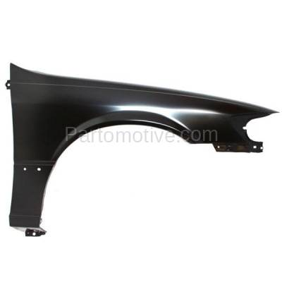 Aftermarket Replacement - FDR-1129R 1997-2001 Toyota Camry (CE, LE, XLE) (USA & Japan Built) Front Fender Quarter Panel (with Molding Holes) Steel Right Passenger Side - Image 1