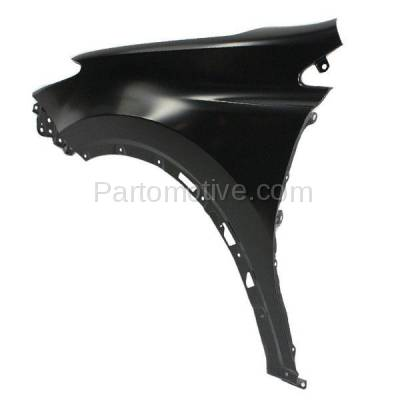 Aftermarket Replacement - FDR-1607L 2013-2018 Toyota RAV4 (2.5 Liter Engine) Except EV Model (Japan Built) Front Fender Quarter Panel Primed Steel Left Driver Side - Image 2