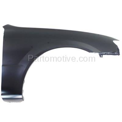 Aftermarket Replacement - FDR-1575R 2001-2003 Mazda Protege Front Fender Quarter Panel without Side Repeater Lamp (without MP3 Package) Primed Steel Right Passenger Side - Image 1