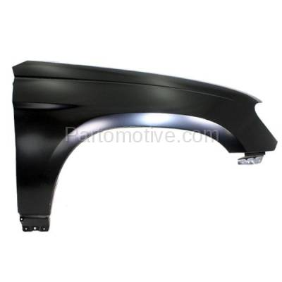 Aftermarket Replacement - FDR-1551R 2007-2008 Chrysler Pacifica (3.8 & 4.0 Liter V6 Engine) Front Fender Quarter Panel (without Molding Holes) Primed Steel Right Passenger Side - Image 1