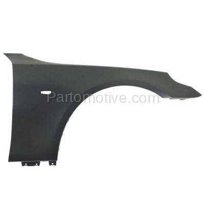 Aftermarket Replacement - FDR-1024R 2004-2010 BMW 5-Series (Sedan & Wagon) Front Fender Quarter Panel (without Molding Holes) Primed Steel Right Passenger Side - Image 1