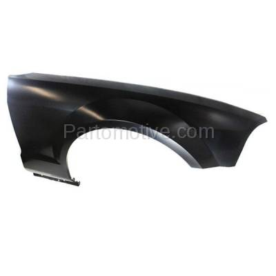 Aftermarket Replacement - FDR-1515R 2005-2009 Ford Mustang (4.0L & 4.6L V6/V8 Engine) Front Fender Quarter Panel with Antenna Hole Primed Steel Right Passenger Side - Image 3
