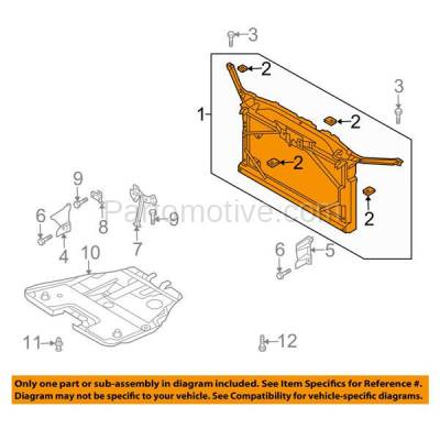Aftermarket Replacement - RSP-1492 2003-2008 Mazda 6 (GS, GT, i, Mazdaspeed, S) Hatchback, Sedan, Wagon (2.3 & 3.0 Liter Engine) Radiator Support Core Assembly Plastic - Image 3