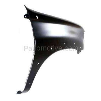 Aftermarket Replacement - FDR-1787RC CAPA 2000-2006 Toyota Tundra Pickup Truck (excluding Double Crew Cab) Front Fender (with Flare Holes) Primed Steel Right Passenger Side - Image 3
