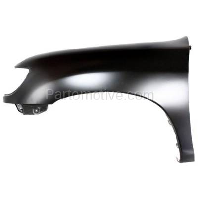Aftermarket Replacement - FDR-1788L 2000-2006 Toyota Tundra Pickup Truck (excluding Double Crew Cab) Front Fender (without Flare Holes) Primed Steel Left Driver Side - Image 1