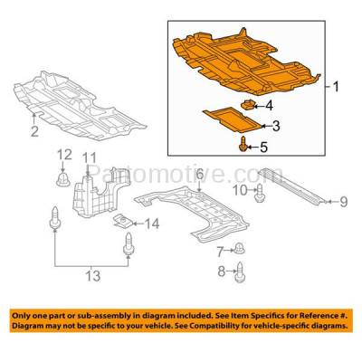 Aftermarket Replacement - ESS-1378 09-10 IS-250/350 RWD Front Engine Splash Shield Under Cover LX1228141 5141053091 - Image 3