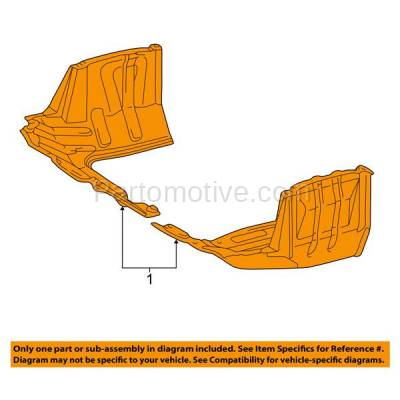 Aftermarket Replacement - ESS-1623R 96-00 RAV4 Front Engine Splash Shield Under Cover Automatic Trans Passenger Side - Image 3