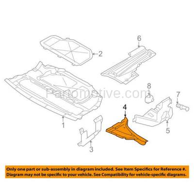Aftermarket Replacement - ESS-1071L 95-01 7-Series Engine Splash Shield Under Cover Side Compartment Cover LH Driver - Image 3