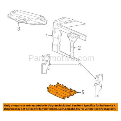 Aftermarket Replacement - ESS-1159 99-04 F-Series Pickup 4WD Lower Engine Splash Shield Under Cover/Air Deflector - Image 3