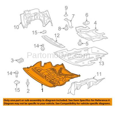Aftermarket Replacement - ESS-1463 03-09 CLK-Class, 05-06 C55 AMG Front Engine Splash Shield Under Cover 2095241730 - Image 3