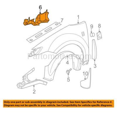Aftermarket Replacement - ESS-1174L 03-07 Ion Front Engine Splash Shield Under Cover Guard Left Driver Side 15146158 - Image 3
