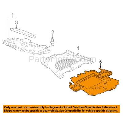 Aftermarket Replacement - ESS-1201 08-14 CTS AWD Front Engine Splash Shield Under Cover Undercar GM1228136 15835283 - Image 3