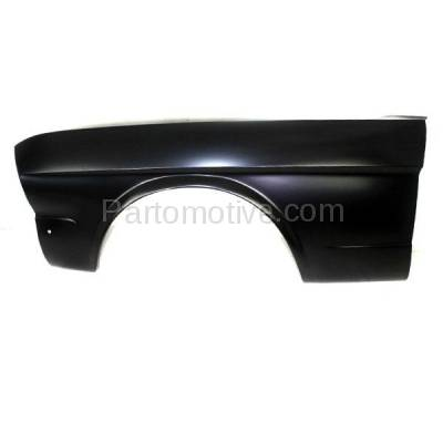 Aftermarket Replacement - FDR-1518L 1964-1966 Ford Mustang (Convertible, Fastback, Hardtop 2-Door) Front Fender Quarter Panel (without Molding Holes) Primed Left Driver Side - Image 1