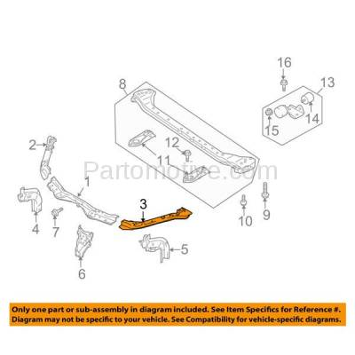 Aftermarket Replacement - RSP-1708L 2007-2013 Suzuki SX4 2.0L (Hatchback & Sedan) Front Radiator Support Upper Crossmember Tie Bar Panel Steel Left Driver Side - Image 3