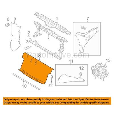Aftermarket Replacement - ESS-1124 11-14 F150 Pickup Truck Front Lower Engine Splash Shield Under Cover BL3Z8327A - Image 3