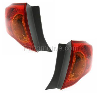Aftermarket Auto Parts - TLT-1396LC & TLT-1396RC CAPA 09-10 Corolla Taillamp Taillight Rear Brake Light Lamp Left Right Set PAIR - Image 2