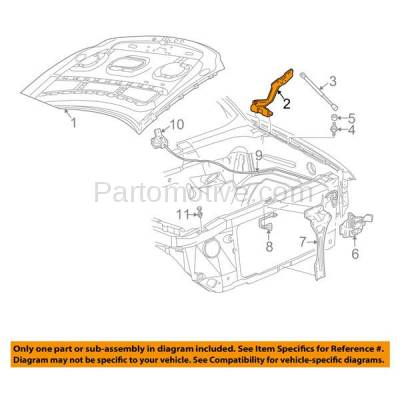 Aftermarket Replacement - HDH-1039R 1997-2004 F-Series Pickup Truck & 1997-2006 Expedition, Lincoln Navigator & 2002-2003 Blackwood Front Hood Hinge Bracket Right Passenger Side - Image 3