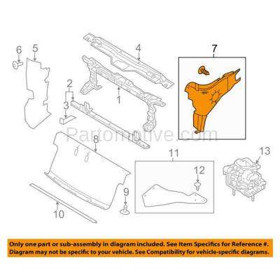 Aftermarket Replacement - ESS-1123L 09-14 F150 Pickup Truck Engine Splash Shield Under Cover Driver Side FO1228137 - Image 3