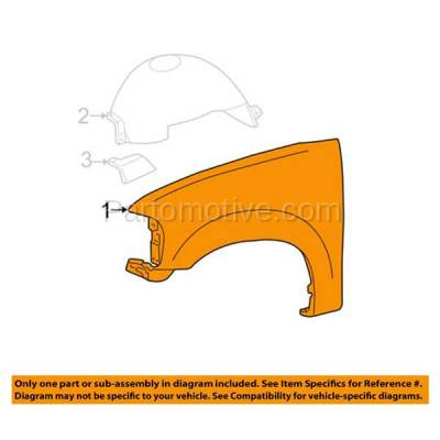 Aftermarket Replacement - FDR-1278R 2004-2006 Ford F-Series F150 Pickup Truck (excluding Heritage Models) Front Fender Quarter Panel (with Molding Holes) Primed Right Passenger Side - Image 3