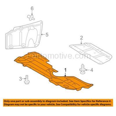 Aftermarket Replacement - ESS-1552 2008-2017 Lexus HS250h & Scion tC, xB & Toyota Corolla iM Front Lower Engine Under Cover Splash Shield Undercar Guard Plastic - Image 3