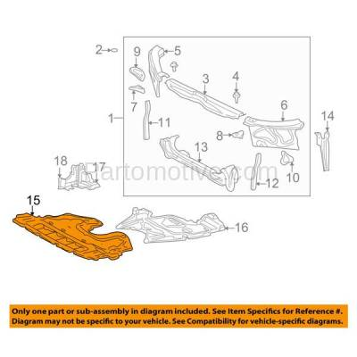 Aftermarket Replacement - ESS-1394 01-05 IS300 Front Engine Splash Shield Under Cover Undercar LX1228108 5141053012 - Image 3
