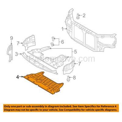 Aftermarket Replacement - ESS-1314 Rear Engine Splash Shield Under Cover For 06-10 Sonata 2.4L HY1228122 291203K250 - Image 3