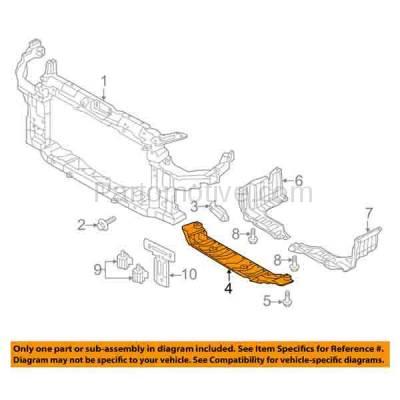 Aftermarket Replacement - ESS-1298 Front Engine Splash Shield Under Cover Guard Fits 11-13 Elantra Sedan HY1228166 - Image 3