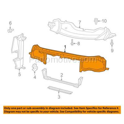 Aftermarket Replacement - RSP-1075 2011-2018 Chrysler 300 (Sedan 4-Door) Front Radiator Support Upper Crossmember Tie Bar Assembly Primed Made of Plastic with Steel - Image 3