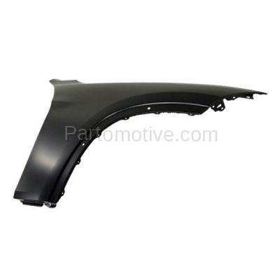 Aftermarket Replacement - FDR-1815R 2013-2015 BMW X1 (2.0 & 3.0 Liter Engine) Front Fender Quarter Panel (without Turn Signal Light Holes) Steel Right Passenger Side - Image 2