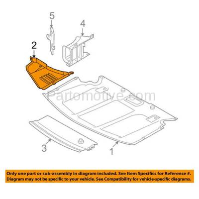 Aftermarket Replacement - ESS-1085L 04-10 5-Series w/o M-Package Engine Splash Shield Under Cover Left Driver Side - Image 3